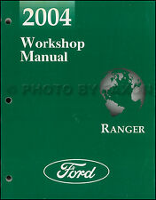 2004 Ford Ranger Shop Manual Original Workshop Repair Service Edge Tremor XL XLT