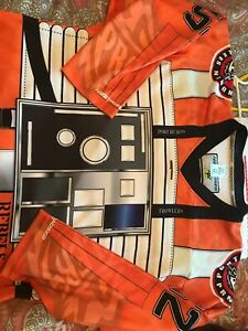 PORT HURON PROWLERS GAME USED STAR WARS REBELS FHL SIGNED MINOR HOCKEY JERSEY