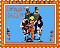 1//2 Sheet 11x17 Naruto Anime Birthday Party Edible Cake Topper FROSTING