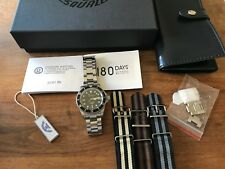 Squale 1545 20 Atmos Classic Black Diver Watch mk1 submariner eta 2824-2 natos