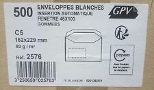 [Ref:2576] GPV Bte de 500 Enveloppes C5 162 x 229 mm fenêtre Gommage Insertion
