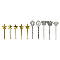 10X Plated Toys Girls Accessories Play House Toys Princess Wand for s WGJCAU