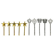 10X Plated Toys Girls Accessories Play House Toys Princess Wand for M Vh