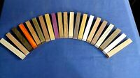 Exotic Wood Pen blanks 21 different species! - wenge zebrano purpleheart padauk