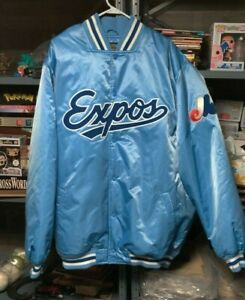 Mens MONTREAL EXPOS Satin Jacket Sz 3X Cooperstown Collection Majestic NWT RARE