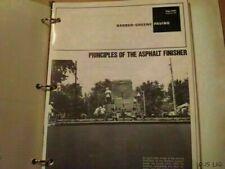 BARBER GREENE ASPHALT FINISHER MANUAL NO. SY1010