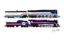 "American Freedom Train 4-8-4 GS4 4449/ T1 1 11""x17"" Poster Andy Fletcher signed"