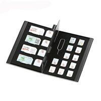 21 In 1 Portable Micro SIM Card Nano Memory Storage Box Aluminum Protector Case