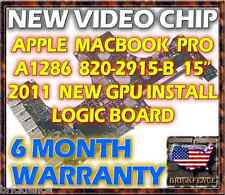 "APPLE MACBOOK PRO A1286 15"" EARLY & LATE 2011 LOGIC BOARD REPAIR - NEW CHIPSET"