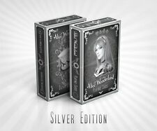 Alice of Wonderland Playing Cards Deck - Silver Edition Brand New