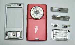 Red fascia facia faceplate case housing cover for Nokia 95