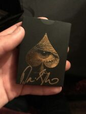David Blaine VIP 2018 Tour Signed Deck of Cards Never Released! Rare!
