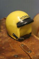 Vintage Honda Mini bike Motorcycle Helmet Bank Promo Plastic Yellow buco bell