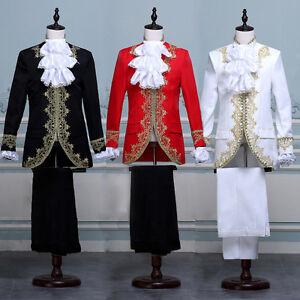 Renaissance Medieval Europe Royal Prince Performing Dress Stage Costume Full Set