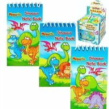 12 x Mini Dinosaur Spiral Notebooks - Party bag fillers - 3 Designs