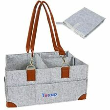 Tokud Baby Diaper Caddy Organizer Tote Bag Nursery Car Newborn Registry Must