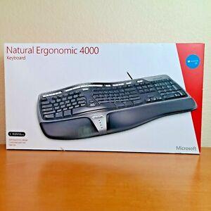 NEW Microsoft Natural Ergonomic 4000 Computer Keyboard Wired B2M-00012 SEALED