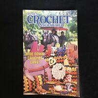 Annie's Crochet Newsletter No 17 Sept/Oct 1985 Heart Potholder Kids Mittens