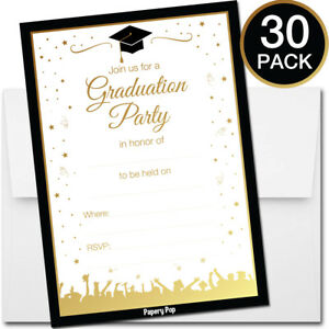 2019 Graduation Party Invitations and Envelopes (30 Count) - High School College