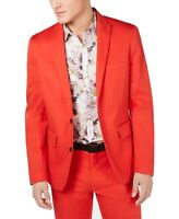 INC Mens Suit Seperates Red Size Large L Slim Fit Stretch Blazer $129 119