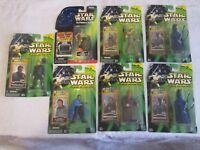 Hasbro Star Wars Power of the Jedi Force Lot of 7 C-3PO Coruscant Lando Obi-Wan