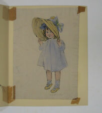 Florence Nosworthy Young Girl in Hat Illustration WC Listed Artist &Illustrator