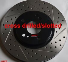 Fits Accord EX-L 3.5 Slotted Or Cross Drilled Rotors Akebono Pads Front Rear Set