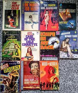 Lot of 11 Murder, Mystery, Thriller Vintage Books