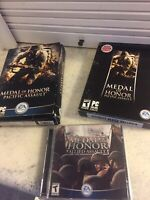 Lot Of 3 Medal of Honor: Pacific Assault -- Director's Edition Allied  DVD PC
