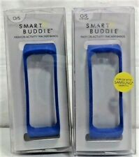 Smart Buddie Fashion Tracker Bands for Samsung Gear Fit Lot of 2 (Blue)