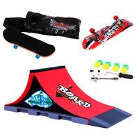 Wooden Fingerboard Skateboard Finger Board Deck Toy Ramp Accessories Set #B