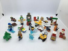 Lego city hiver Snowboards x2 Figurine et Accessoires Bleu Ushanka Hat New