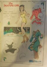 Blondie Sunday by Chic Young from 12/31/1933 Rare Paper Doll Full Page Size !