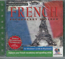 SEALED Beginner Intermediate French Vocabulary Builder For Windows & Mac CD Rom
