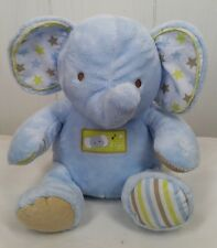 Carters blue Elephant plush musical twinkle little star stuffed toy animal