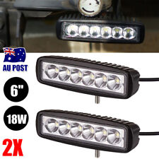 2x 6 inch 30W LED Work Light Bar Fog Driving Lamp Flood Beam Offroad UTE 4WD SUV
