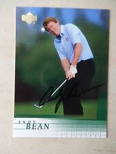Andy Bean Autographed 2001 Upper Deck Golf Card