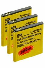 3X 2450mAh High Capacity Gold Batteries for Samsung Galaxy S2 Epic 4G Touch D710