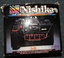 Nishika N8000 3D 35mm Quadrascopic Stereo Lenticular Camera Gif Vintage Quadra