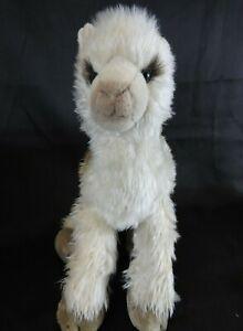 Vintage Dakin Llama Luella Alpaca Gray Long Pile Plush Lawanna 16'' EUC