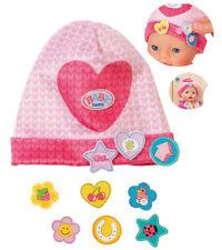 Zapf Creation Baby Born Mütze mit Batches Herz (Pink-Rosa)