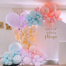 Pastel Macaron Balloon Garland Arch Kit Candy Birthday Wedding Baby Shower Decor