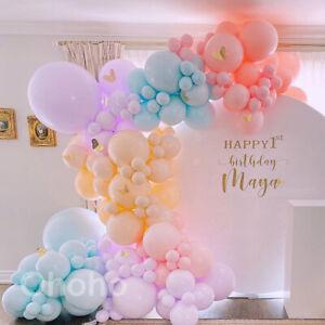 Pastel Macaron Balloon guirlande Arch Kit Anniversaire mariage Fête ballon Arche