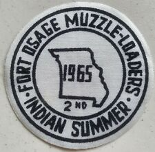 Fort Osage Muzzle-Loaders 1965 Indian Summer Vintage Shooting Patch