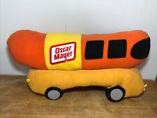 HUGE Oscar Mayer Wienermobile Almost 3 Foot Plush Pillow advertising hotdog EUC