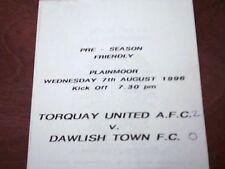 1996/97 TORQUAY UNITED V DAWLISH TOWN PRE-SEASON FRIENDLY 7/8/96