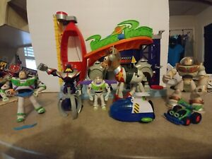 Imaginext Toy Story Pizza Planet 2011 7 figs gold buzz space bullseye lot