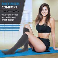 Luxury Compression Socks 15-20 mmhg Men & Women Travel 2 Pairs Pregnancy Sports