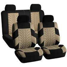 Universal Seat Covers For Auto Car Suv Van Beige Black Full Interior Set (Fits: Seat)