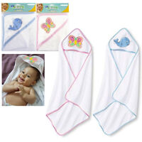 2 X Hooded Towel Baby Bath Blanket Infant Wrap Bathrobe Butterfly Whale Animal